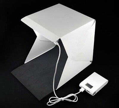 "Light Room Photo Studio 9"" Photography Lighting Tent Kit Mini Backdrop Cube Box"