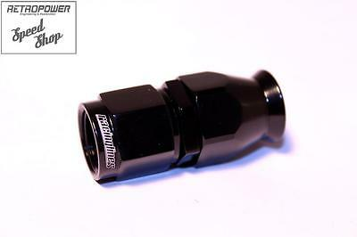 AN-6 AN6 JIC Straight Black Female Swivel Fitting for Teflon Fuel/Oil Hose