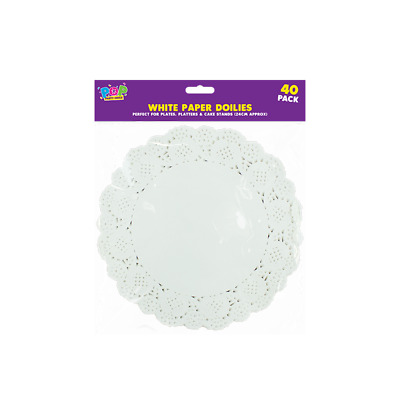 40 x PAPER PARTY WEDDING BIRTHDAY CATERING CELEBRATIONS WHITE DOILIES