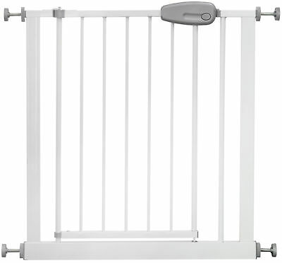 Adjustable Safety Gate MEGANE 73 - 143 cm white/grey stair door child baby kid