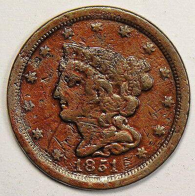 1851 Half Cent - Bold Fine - Priced To Sell!