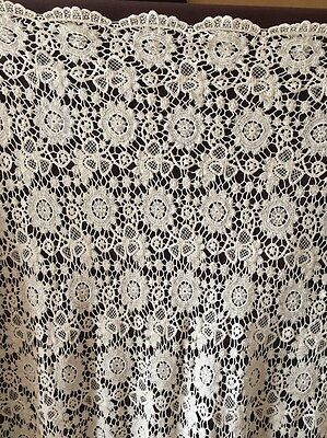 Stunning Floral Cotton Cream Guipure Cord Lace
