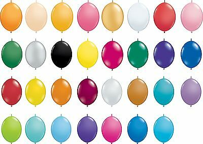 "50 x 12"" Quick Link Latex Balloons Birthday Party Christening Wedding Decoration"