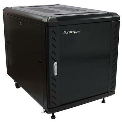 Startech 12U 36 inch Knock-Down Server Rack Cabinet with Casters RK1236BKF