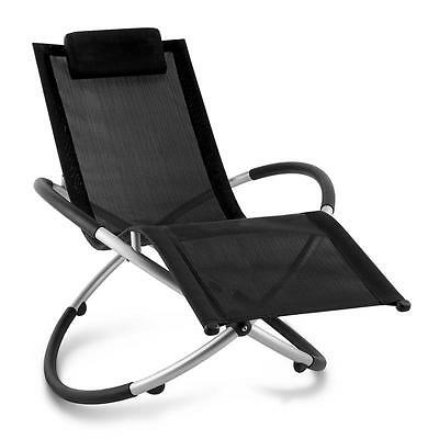 Home & Garden Lounger Moon Rocker Indoor / Outdoor Recliner Folding Chair Patio