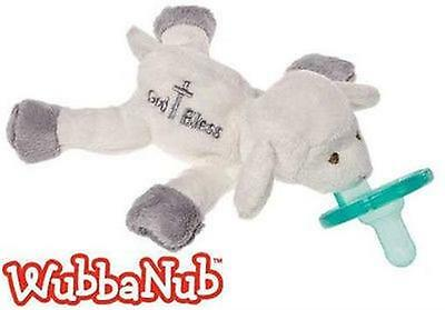 Lamb of God Bless WubbaNub Infant Baby Binkie Pacifier Holder Soothie BPA Free
