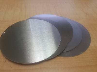"""1 5/8"""" (1.63) Dia. Stainless Steel Disc Circle .063 1/16"""" Thick (Lot of 10)"""