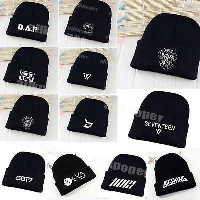 Kpop BTS Beanie Hat Bangtan Boys VIXX Winner GD Cap Knit GOT7 Seventeen Monsta x