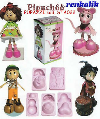 stampo per gomma crepla fommy STA022 pupazzi scrapbooking