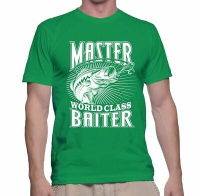 Men's T Shirt Master Baiter Tee Funny S Adult Humor Shirt Sleeve Dad Gift Summer
