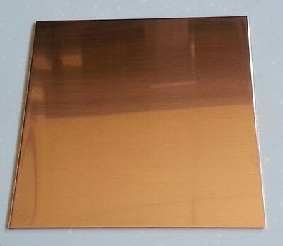 "Copper Sheet Plate .0431"" 32oz 18 gauge 12"" x 12"""
