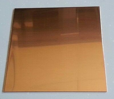 "Copper Sheet Plate .0323"" 24oz 20 gauge 12"" x 12"""