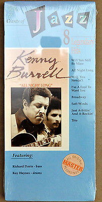 """Brand New Sealed Kenny Burrell """" All Night Long """" Compact Disc"""