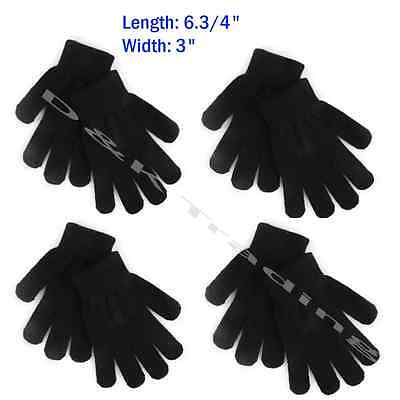 Kids Children Plain Solid Black Winter Magic Gloves Warm Knitted Wholesale Dozen
