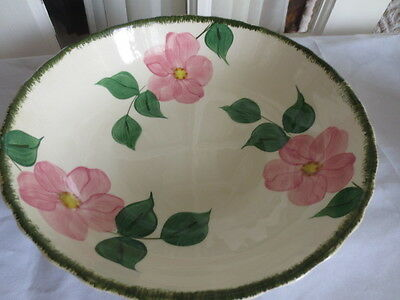 Blue Ridge Southern Pottery Hand Painted Prairie Rose Vegetable Serving Bowl