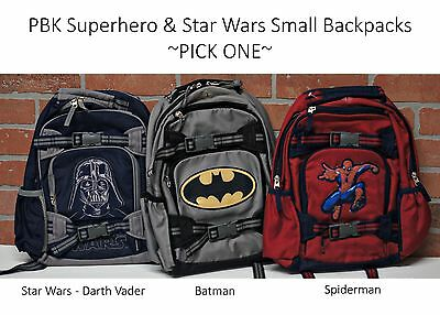NEW Pottery Barn Kids SUPERHERO & STAR WARS Backpack small PBK monogram removed