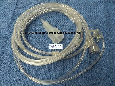 FLEXICARE NASAL CANNULA DUAL COMBINATION OXYGEN WITH Co2 MONITORING MALE LUER