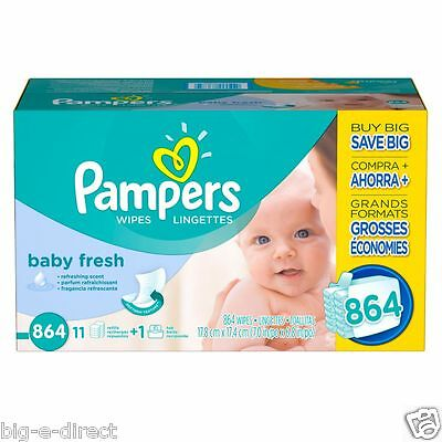 Pampers Soft Care Baby Fresh Baby Wipes (864 ct.)