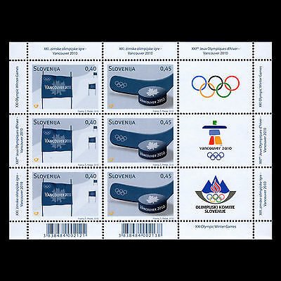 Slovenia 2010 - Winter Olympic Games Vancouver Sports S/S - Sc 829a MNH