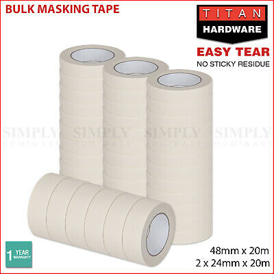 Masking Tape Painting Crepe Paper 24mm 48mm x 20m House High Temperature Bulk