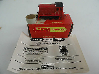 Triang R253 Red Dock Shunter Boxed