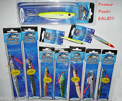 Williamson Jig Mixed Lot Of 10 Jigs Best Saltwater Fishing Jigging Lures