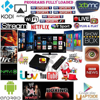 Latest Quad Core Android 4.4 TV Box Fully Loaded KODI (XBMC) Sports Movies Live