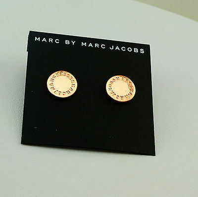 2016 Hot Sale Marc By Marc Jacobs Rose Gold Disc Earrings #E0164