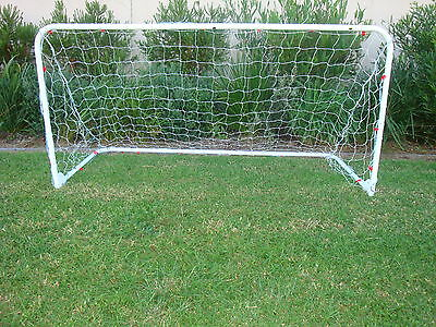 FOLDABLE hinged METAL GOAL with net 1.8 METRE soccer football park training NEW