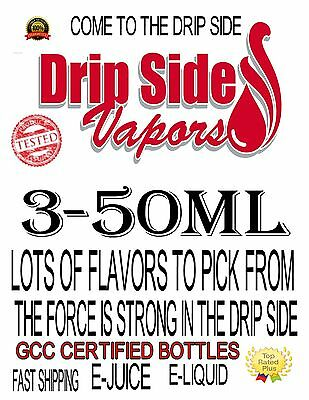 3-50ml Bottles PREMIUM E-JUICE-E-LIQUID-100+ FLAVORS TO PICK FROM MADE IN USA