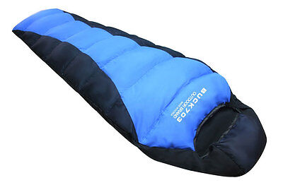 Natural Goose Down Feather Adult Mummy Sleeping Bag, 14~50F
