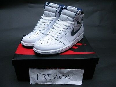 Nike Air Jordan 1 Retro High Og Gs Sizes White/midnight Navy 575441-106
