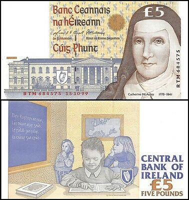 Ireland 5 Pounds, 1999, P-75b, UNC