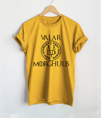 Valar Morghulis Shirt Game Of Thrones T-Shirts Top Valar Dohaeris Tee Faced God