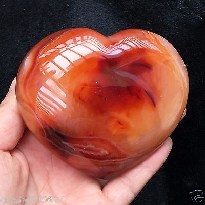 Agate NATURAL QUARTZ CRYSTAL Heart Polished Healing 340g G0904