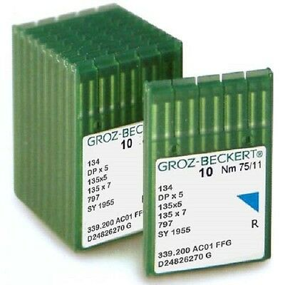 Groz Beckert Industrial S/M Needles, 134 / 135x5 / DPx5 (pack of 100 needles)