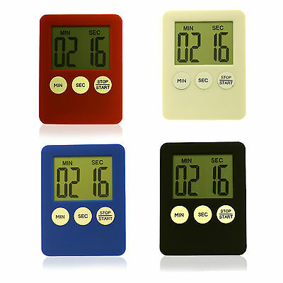 Kitchen Digital Timer Lcd Display Magnetic Count Down Up Egg Kitchen Beep Alarm