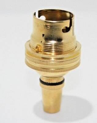 """Brass Ceiling Cord Lamp Holder BC/B22 Fitting 1/2"""" Thread Grip With  Earth"""