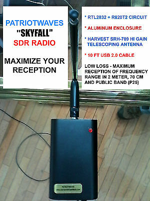 """""""SKYFALL"""" SDR RADIO - RTL2832+R820T2 with SRH-789 High Gain Antenna - 10ft Cable"""