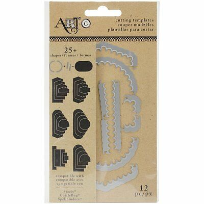 Act-C Cutting Templates Create Your Own Dies ~Oval Scallop 12 Dies