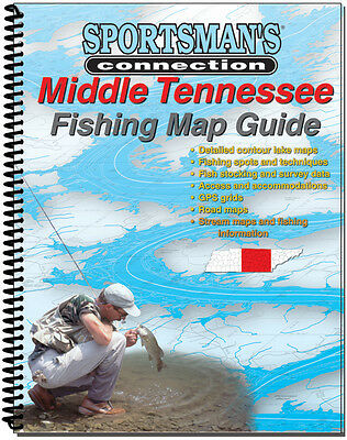 Sportsman's Connection Middle Tennessee Fishing Map Guide Lakes Watersheds Info