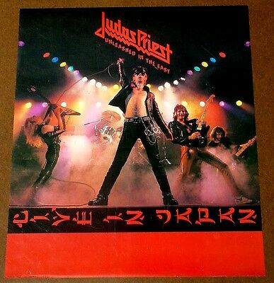 Judas Priest 1979 poster UNLEASHED IN THE EAST mint condition