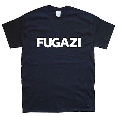 FUGAZI T-SHIRT sizes S M L XL XXL colours Black, White