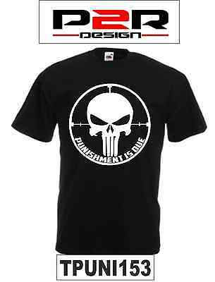 T-shirt Maglia The Punisher Punishment is due comics film movie games serie tv