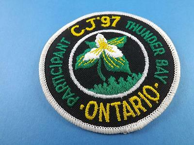 Boy Scouts Canada Jparticipant  Cj 1997 Thunder Bay Ont Patch Collector Badge