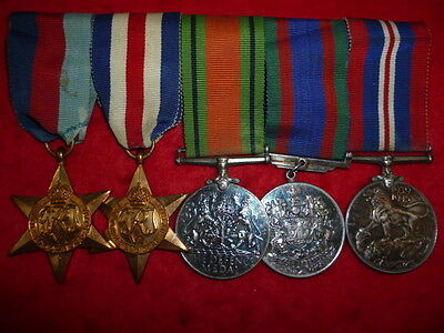 "Canadian ""Normandy Campaign"" Medal Group of (5) WW2 Medals"