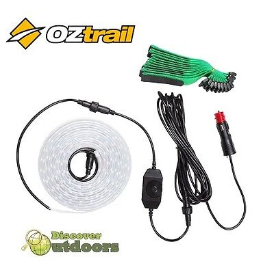 New Oztrail Led 4m Strip Light Kit - 12v 3600 Lumens Dimmer Switch - CAMPING 4WD