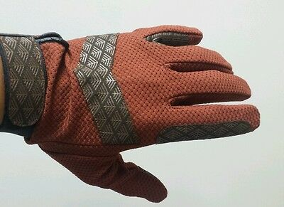 Brand New Horse Riding Gloves Full Mesh Brown, Large