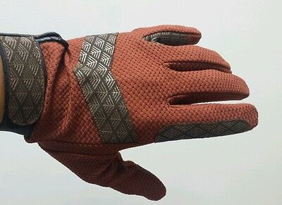 Brand New Horse Riding Gloves Full Mesh Brown, Small