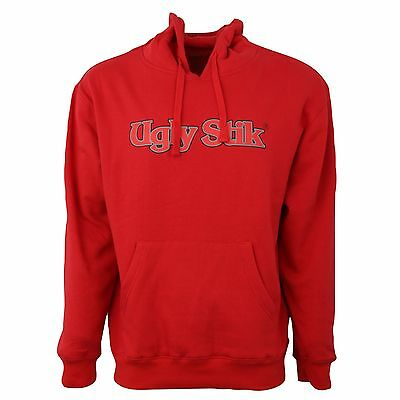 New Ugly Stik Rod Hoodie Red Hooded Sweatshirt Adult Size Large